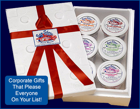 corporate gifts from Bayshore Chowders